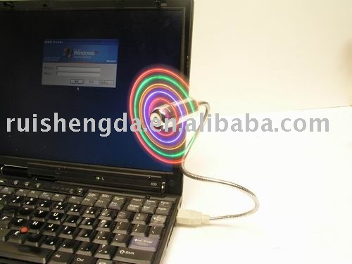 Notebook USB Fan With Light, USB Fan With LED Light,USB Fan With color Light (UF-211-03)