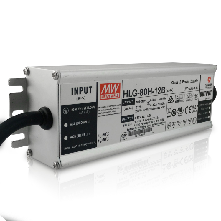 Meanwell HLG-80H-36A 80w 36v IP65 PFC cqc optional LED power supply