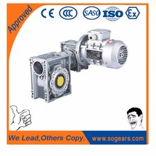 PC-NMRV speed gear boxes 1kw 24v dc motor