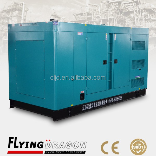 Remote control 480kw diesel silent generator set 600kva power soudproof electric generation with CCEC cummins engine KTA19-G8