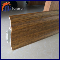 PVC coated wall skirting board for vinyl flooring
