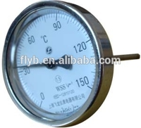 Plastic bimetal pipe thermometer with CE certificate