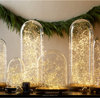 Warm white Christmas Xmas wedding holiday led copper wire string lights in mason jar