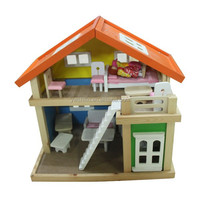 Hot sales beautiful wooden DIY doll houses for kids