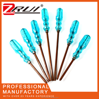 S2 material screwdriver Diamond crystal transparent plastic handle long screwdriver bit