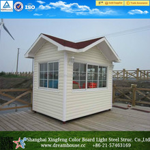 Best price light steel sentry box/ prefab house for sentry box shed