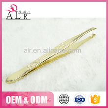 2017 Rose Gold Color Stainless Steel Girls Eyebrow Tweezers