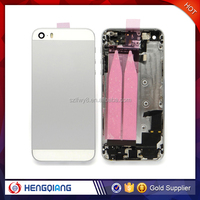 100% Original Back Cover Housing Black with Glod/Gray/Silver Color For Iphone 5s