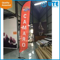wholesale nylon printed flags fast making customized beach banner teardrop flag