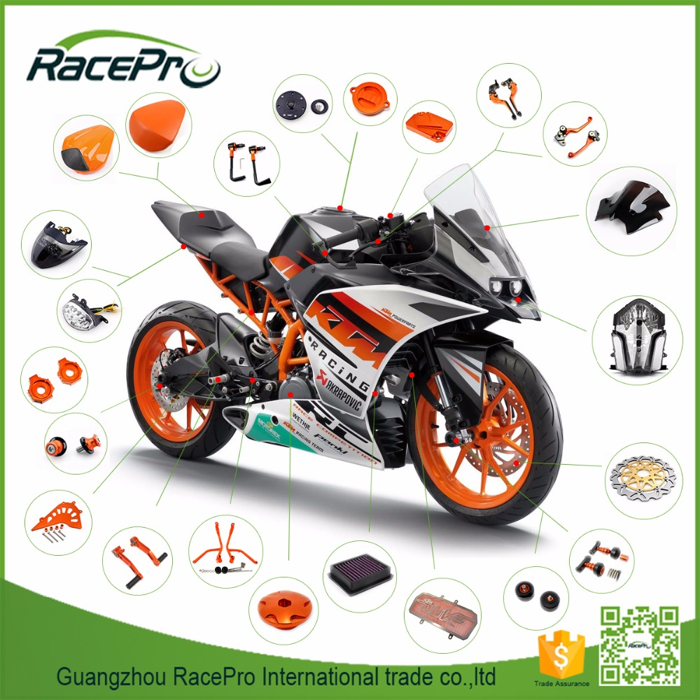 Manufacturer Custom Dirt Bike Motocross Motorcycle Parts Accessories for KTM Duke 200 390