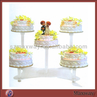 High Quality Milk White Acrylic Cake Stand for Holidays