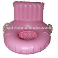 Pink Transportable Potty Seat with Handle and Backrest
