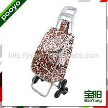 climbing stair folding shopping cart with bag modern cotton bag for packing