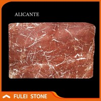 Natural classic spanish rojo rosso red alicante marble