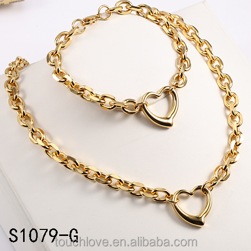 S1079-G Fashion Jewelry , Stainless Steel Jewelry, Gold Chain Design Bisuteria
