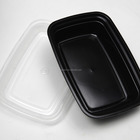 Disposable Plastic Black PP Lunch Box