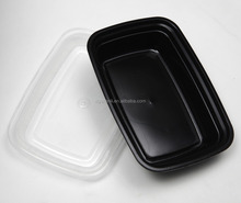 Usa e getta di Plastica Nero PP Lunch Box