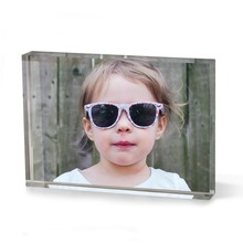 wholesale customized acrylic clear tabletop picture photo frame block