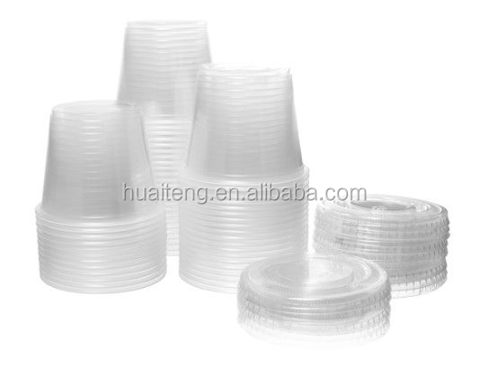 0.75oz~5.5oz Disposable Plastic sauce Cup with lid