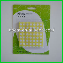 Blister blue Nano microfiber glasses cleaning cloth with dot