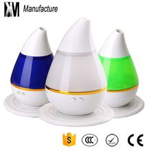 Hot sale water drop type 7 LED colorful light mini tabletop USB humidifier