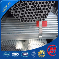 hot dip bs1387 galvanized pipe weight per meter