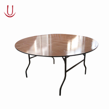 "Modern 72"" Big Wooden Top Quality Folding Dining Table Design Banquet Round Table"