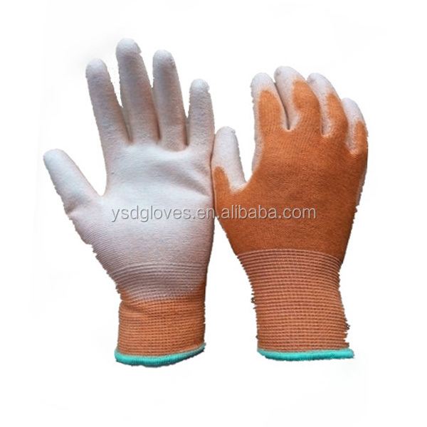 13Gauge PU Coated Palm Fit Safety Work PU Palm ESD Gloves
