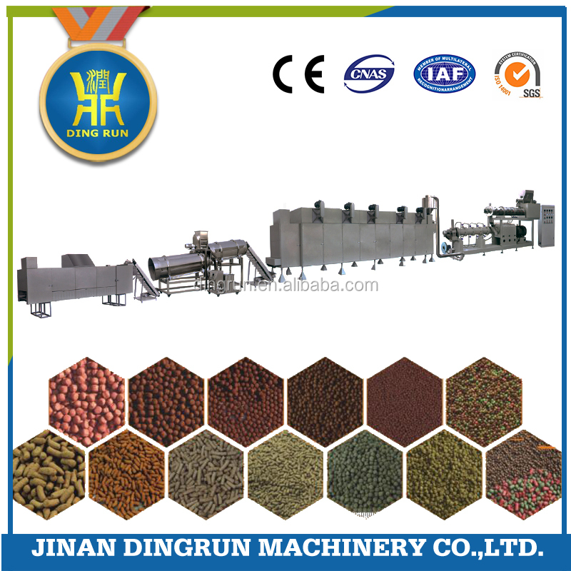 floating fish food making extruder / pet fish feed machine