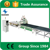 particle board cnc router cutting line looking for agents to distribute our machine