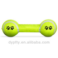 pet toy tennis dumbbell shape dog toys