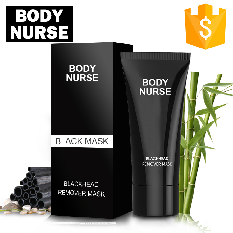 Private Label Facial Deep Cleanser Black Mud Blackhead Remover Black Mask