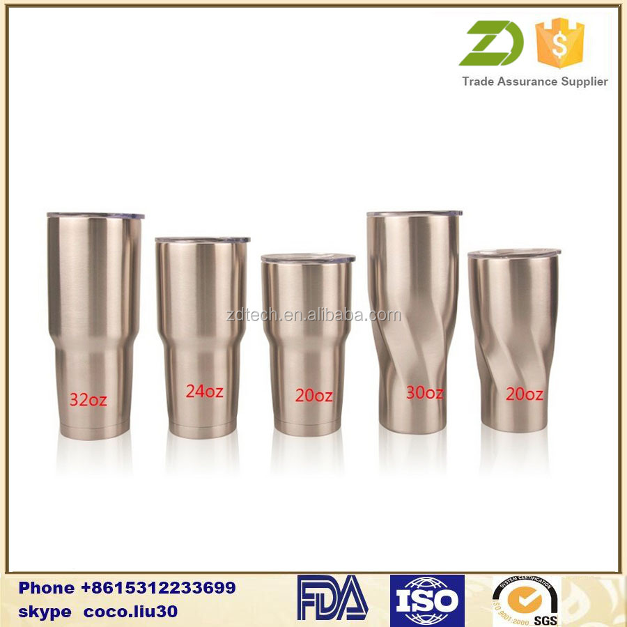 custom logo/color 20/30oz DW stainless steel beer tumbler with flip lid ZDS1186