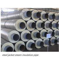 hot sale rock wool raw material insulation steel pipe