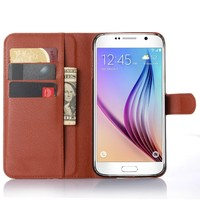 Leather Flip Wallet Card Holder back cover case for samsung galaxy s7