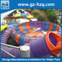 Giant swimming pool fiberglass bowl water park water slides for sale