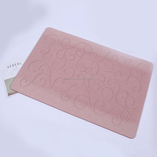 color changing waterproof toilet embossed bath mat eco-friendly diatomite absorbent safety color changing bath mat