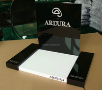 black color acrylic cosmetic product display stands with logo printing