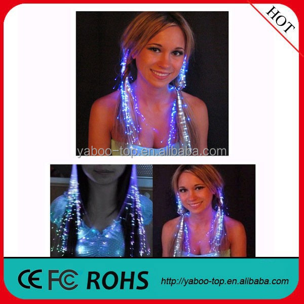 (Top Gifts) Flashing Led Hair Extension, Party Decoration Led Hair Accessories, Plastic Glowing Hair for Christmas