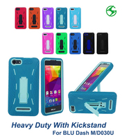 Rugged phone protector soft silicone back cover+hard plastic case shockproof mobile phone shell for BLU Dash M