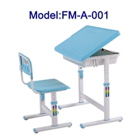 School furniture adjustable table and chair for children's education