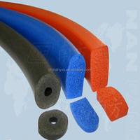 Rod&mat silicone foam High temperature convenient installation container seal strip