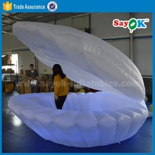 custom made 2m giant inflatable clamshell, air sea shell balloon for stage decoration