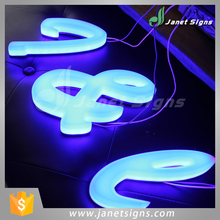 Best quality led letter signs for indoor outdoor signage branding from Janet Signs