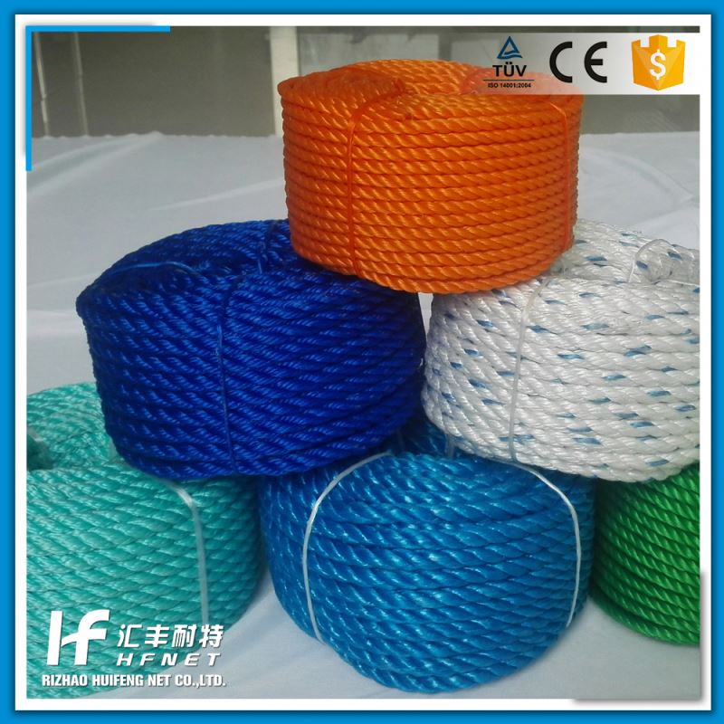 Braided 3 Ply Polyester Rope Survival 8 Strand Polyester Rope Pe Rope