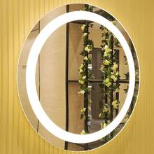 Modern Oval LED Bathroom Mirrors Touch Screen Light up Mirror