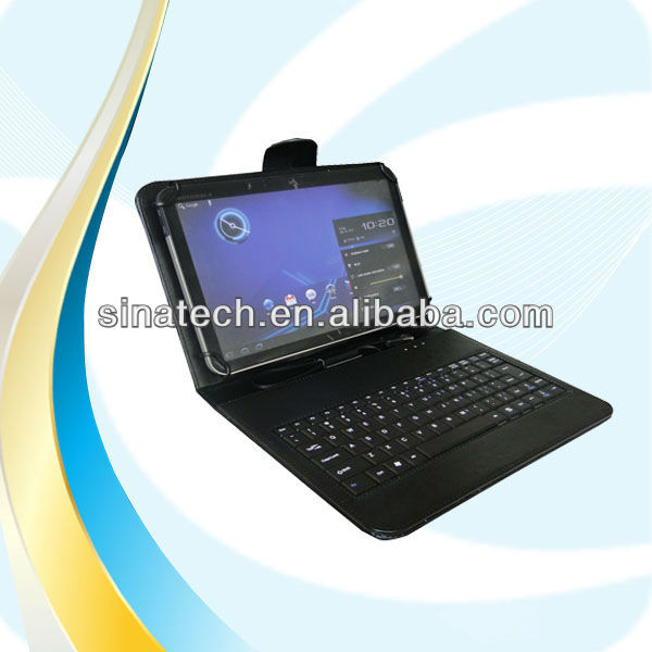 Unique 7''-10'' Universal tablet keyboard case,10.1 inch tablet keyboard case micro usb
