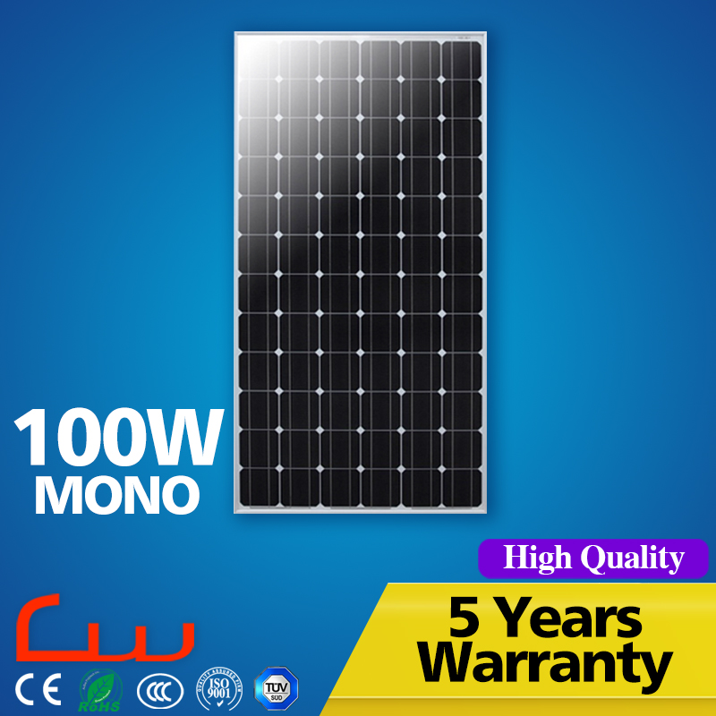 Cheap wholesale monocrystalline 100W 12V 24V solar panel price