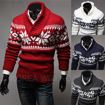 MS70965G Wholesale men Christmas casual sweaters for men