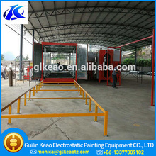 Automatic Fluidized Bed Powder Coating Equipment For Highway Guardrail Surface Painting